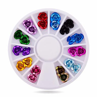 Jóias de Unhas-Flôr- paraDedo- deAcrilico- com1wheel rose nail decorations-6cm wheel- (cm)