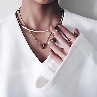 Naisten Risti Circle Shape minimalistisesta Eurooppalainen Riipus-kaulakorut Metalliseos Riipus-kaulakorut , Party Päivittäin