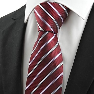 Gravata(Vermelho,Poliéster)Listrado