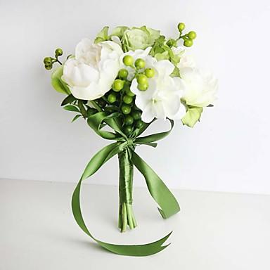 Kunstige blomster 11 Gren Bryllupsblomster Roser / Hortensiaer / Peoner Bordblomst