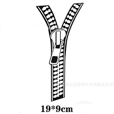 9 * 9cm 반사 지퍼 성격 자동차 스티커 (1PCS)
