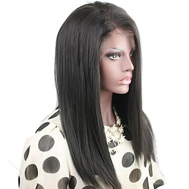 인모 전체 레이스 전면 레이스 가발 곱슬한 130 % 150 % 밀도 100% 핸드 타이드 흑인 가발 자연 헤어 라인 짧음 보통 긴 여성용 인모 레이스 가발