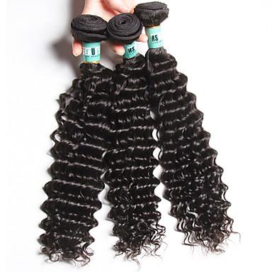 Hiukset kutoo Intialainen Syvät aallot 18 kuukautta 3 osainen hiukset kutoo