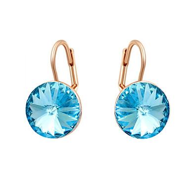 Mulheres Cristal Zircônia Cubica Brincos Compridos - Estilo simples Prata / Ouro Rose Brincos Para