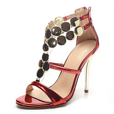 Ženske Djevojčice Cipele Prilagođeni materijali Proljeće Ljeto Jesen Stiletto potpetica Patent-zatvarač za Vjenčanje Formalne prilike
