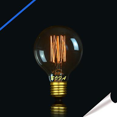 1pc 40 W E26 / E26 / E27 G80 Warmes Weiß 2300 k Retro / Dekorativ Glühbirne Vintage Edison Glühbirne 220-240 V / 110-130 V