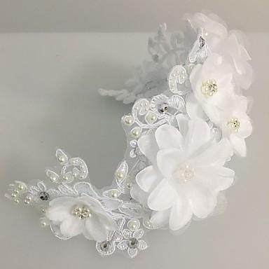 tulle pérola laço flores grinaldas headpiece estilo feminino clássico