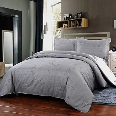 simple opulence duvet cover set polyester luxury printed light gray include quilt cover pillow. Black Bedroom Furniture Sets. Home Design Ideas
