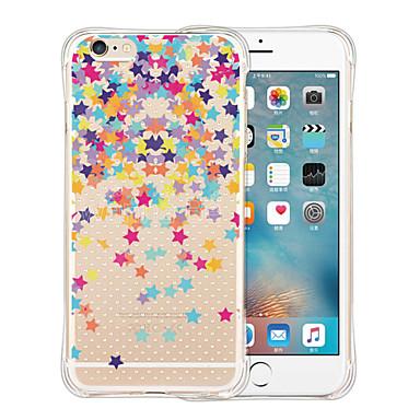 Varten iPhone 6 kotelo iPhone 6 Plus kotelo kotelot kuoret Iskunkestävä Läpinäkyvä Kuvio Takakuori Etui Piirros Pehmeä Silikoni varten