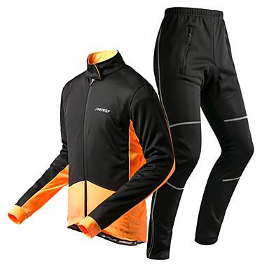 KORAMAN Pyöräilytakki ja housut Miesten Pitkähihainen Pyörä Suojashortsit Vaatesetit Pyöräilyvaatteet Pidä lämpimänä Nopea kuivuminen