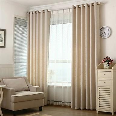 2 paneeli Window Hoito Eurooppalainen , Tukeva Living Room Pellava materiaali Pimennysvuoritus Drapes Kodinsisustus For Ikkuna