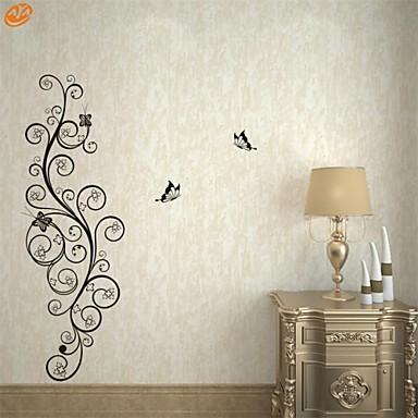 Romantika / Moda / Cvjetnih Zid Naljepnice Zidne naljepnice,PVC M:30*100cm / L:42*142cm