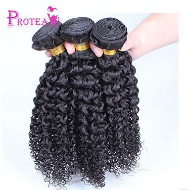 Az emberi haj sző Brazil haj Kinky Curly 3 darab haj sző