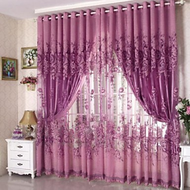 Paese Sheer Curtains Shades Un Pannello Salotto Curtains - Jacquard #04913842 Sconto Del 50