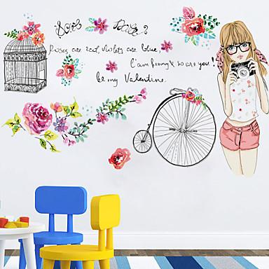 Botânico / Desenho Animado / Floral / Paisagem / Pessoas Wall Stickers Autocolantes de Aviões para Parede,pvc 50*70CM
