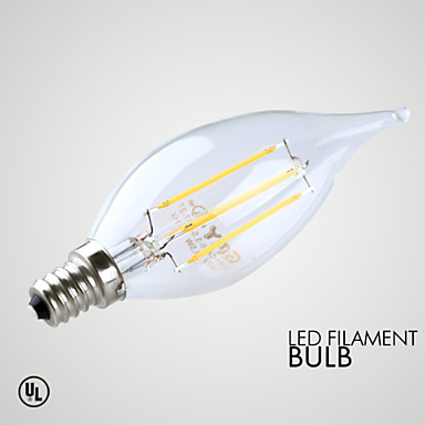 E14 LED 캔들 조명 B 4 LED가 COB 장식 따뜻한 화이트 ≥300lm 2700K AC 220-240V
