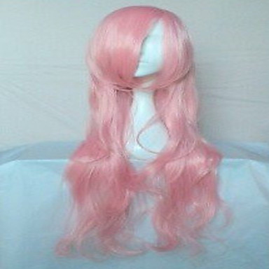 Popular Pink Synthetic Hair Woman's Cosplay Wigs Party Wig Long Loose Wavy Animated Wig Cartoon Wig  Full Wig