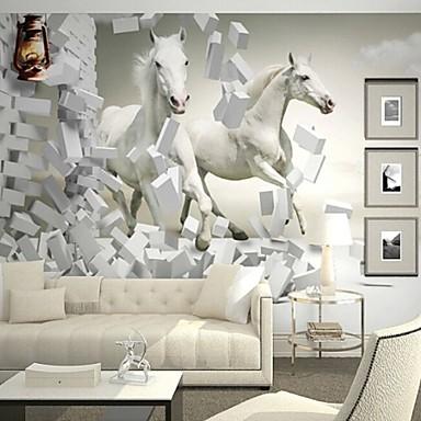 nykyaikainen 3d kivuta nahka vaikutus suuri seinämaalaus taustakuva hevonen art seinä sisustus
