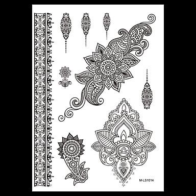 Blomster Serier Svart Papir tatovering forsyning komplett papir Tatoveringsmal