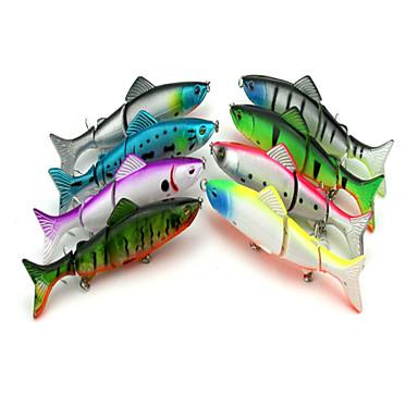 8 Stück Angelköder kleiner Fisch Harte Fischköder Kunststoff Fischen im Süßwasser Bootsangeln / Schleppangelfischen Spinnfischen