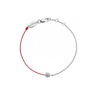 Ketten- & Glieder-Armbänder Party Büro Freizeit Glied/Kette Roségold Sterling Silber vergoldet Diamantimitate Kreisform Geometrische Form