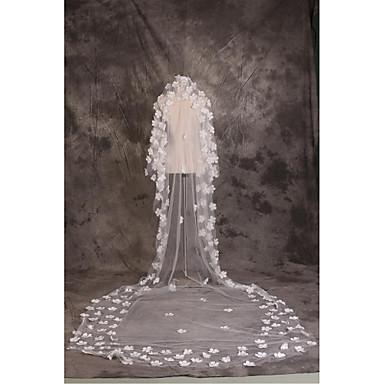 הינומות חתונה שכבה אחת צעיפי קתדרלה חיתוך קצה טול