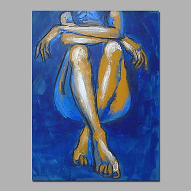 blaue Farbe siting Dame Wand Kunst Dekor Trage bereit zu hängen