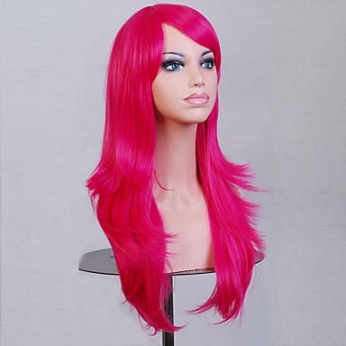 Synthetic Wig Curly / Natural Wave Asymmetrical Haircut Synthetic Hair Natural Hairline Red Wig Women's Medium Length / Long Capless