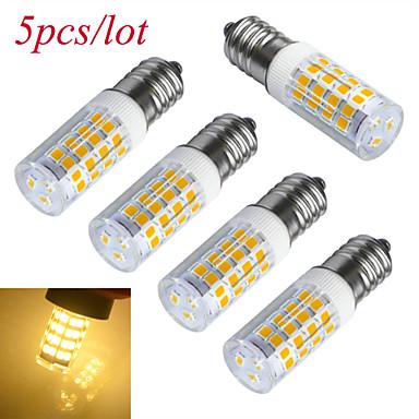 5pcs 6000-6500/3000-3200lm E14 LED-kornpærer T 51 LED perler SMD 2835 Dekorativ Varm hvit Kjølig hvit 220-240V