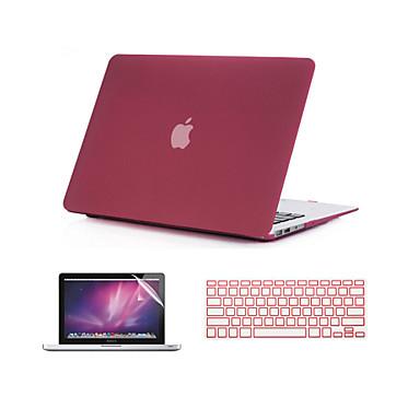 3 em 1 areia movediça caso fosco corpo inteiro com tampa do teclado e protetor de tela para MacBook Air 11