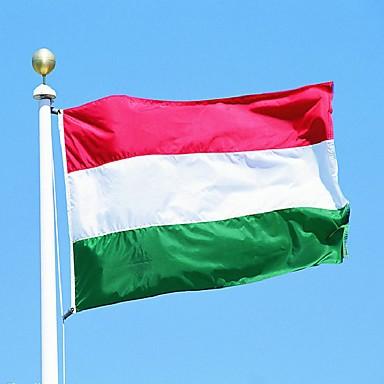 Magyarország zászló poliészter zászló 5 * 3 láb 150 * 90 cm magas színvonalú felveheti sárgaréz csattal
