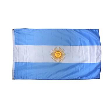Uusi 3x5 jalat Argentiina lippu suuri polyesteri kansallinen bannerin sisä- ulkokäyttöön sisustus (ilman lipputangon)