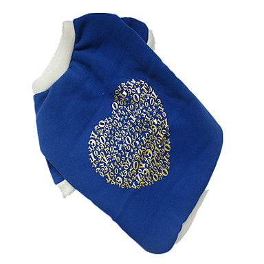 Dog Shirt / T-Shirt Dog Clothes Hearts White/Blue Costume For Pets