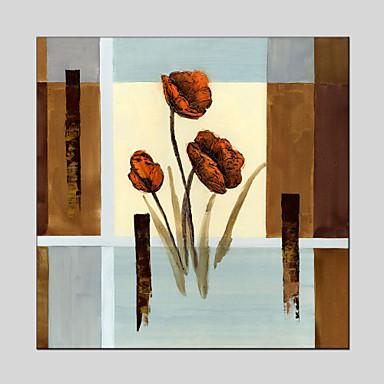 Kézzel festett Csendélet / Virágos / BotanikusModern / Klasszikus / Tradicionális / Rusztikus / Európai stílus Egy elem VászonHang