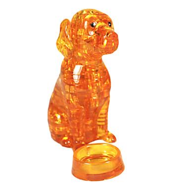 voordelige 3D-puzzels-Legpuzzels 3D Puzzles / Crystal Puzzle Bouw blokken DIY Toys Dog ABS Geel Modelbouw & constructiespeelgoed