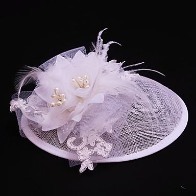 voordelige Hoeden-Tule / Vlas / Imitatieparel fascinators met 1 Bruiloft / Speciale gelegenheden / Causaal Helm