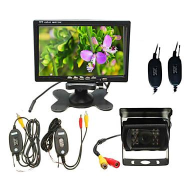 Rückfahrkamera 7-Zoll-Desktop-Monitor + kabellose Buskamera