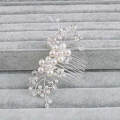 Perly Vlasy Hřebeny s 1 Svatební / Zvláštní příležitosti / Ležérní Přílba