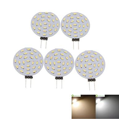 SENCART 5 Stück 2W 3000-3500/6000-6500lm G4 LED Spot Lampen MR11 36 LED-Perlen SMD 3014 Dekorativ Warmes Weiß / Kühles Weiß 12V / RoHs