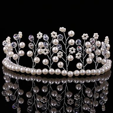 Damen Mädchen Perle Kopfschmuck-Hochzeit Besondere Anlässe Tiara 1 Stück