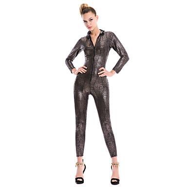 Clubwear Leotards Women's Performance Cotton Chinlon Pattern / Print Long Sleeves Leotard/Onesie