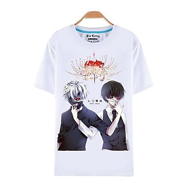 Inspiriert von Tokyo Ghoul Ken Kaneki Anime Cosplay Kostüme Cosplay-T-Shirt Druck Kurzarm Top Für Mann