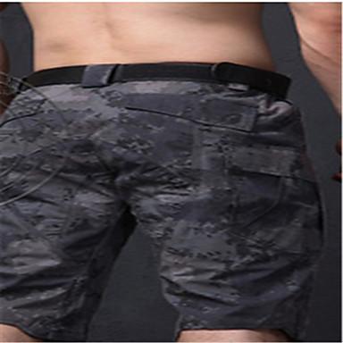 בגדי ריקוד גברים מכנסי ברמודה טקטי להסוות מכנסיים קצרים תחתיות ל מחנאות וטיולים ציד דיג טיפוס רכיבה על אופניים/אופנייים שחור צהוב אדמה