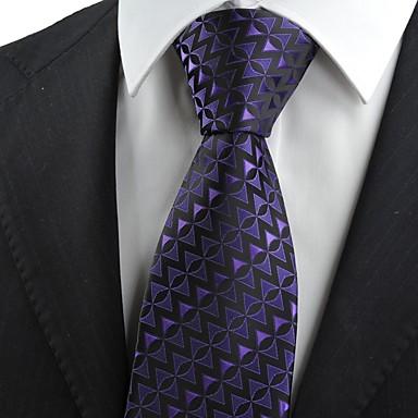 Mønster-Slips(Svart / Lilla,Polyester)