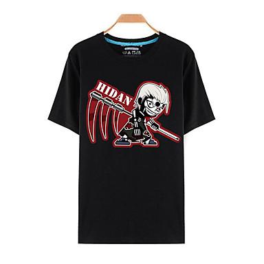 Inspiriert von Naruto Sasuke Uchiha Anime Cosplay Kostüme Cosplay-T-Shirt Druck Kurzarm Top Für Mann