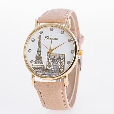 Mulheres Relógio de Pulso Relógio Casual Couro Banda Heart Shape / Fashion Preta / Branco / Azul / Um ano / Tianqiu 377