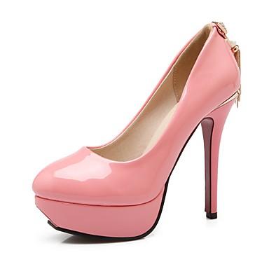 נעלי נשים-בלרינה\עקבים-דמוי עור-עקבים / מעוגל-שחור / לבן / אלמוג-שטח / שמלה / קז'ואל-עקב סטילטו