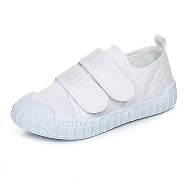 Mädchen Jungen Schuhe Stoff Leinwand Frühling Herbst Komfort Sneakers Klettverschluss Für Sportlich Normal Party & Festivität Kleid Weiß