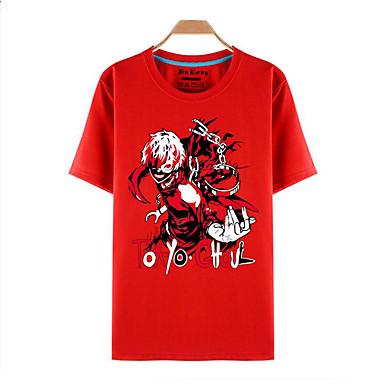 קיבל השראה מ טוקיו ר 'ול קן Kaneki אנימה תחפושות קוספליי Cosplay חולצת טריקו דפוס שרוולים קצרים עליון עבור זכר