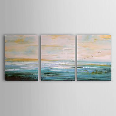 Hang-Painted Oliemaleri Hånd malede - Landskab Moderne Lærred